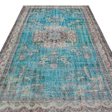 """Vintage Turkish Hand-Knotted Rug - 6'  x 9' 8"""" (72 in. x 116 in.) - K0029075"""