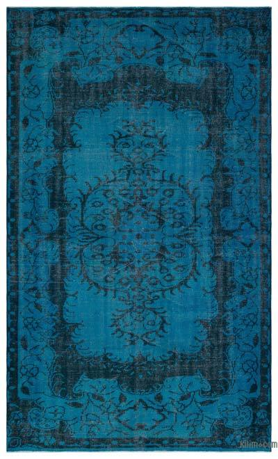 """Over-dyed Turkish Vintage Rug - 5'7"""" x 9'1"""" (67 in. x 109 in.)"""