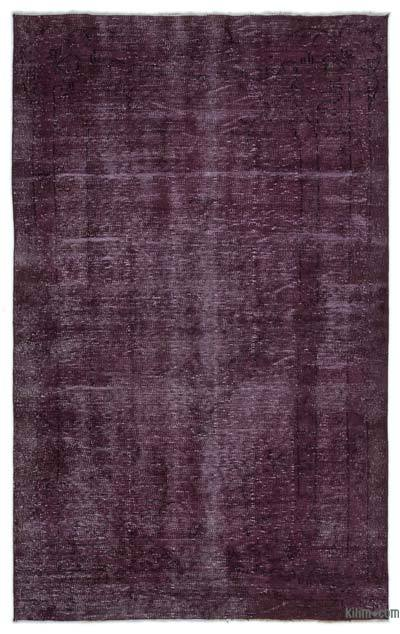 """Over-dyed Turkish Vintage Rug - 5' 3"""" x 8' 6"""" (63 in. x 102 in.)"""