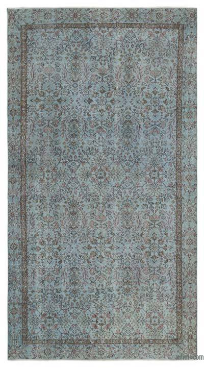 """Over-dyed Turkish Vintage Rug - 5'5"""" x 9'8"""" (65 in. x 116 in.)"""
