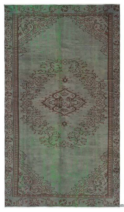 """Over-dyed Turkish Vintage Rug - 4'8"""" x 8'2"""" (56 in. x 98 in.)"""