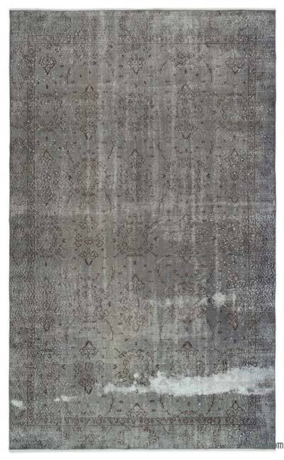 "Over-dyed Turkish Vintage Rug - 5'8"" x 9'5"" (68 in. x 113 in.)"