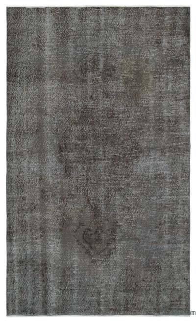 Boyalı El Dokuma Vintage Halı - 160 cm x 268 cm