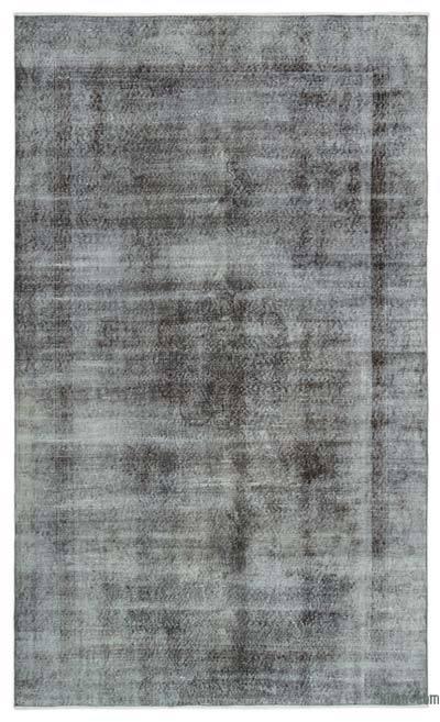 Boyalı El Dokuma Vintage Halı - 182 cm x 307 cm