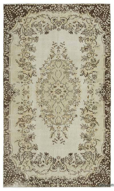 """Over-dyed Turkish Vintage Rug - 5'6"""" x 9'4"""" (66 in. x 112 in.)"""