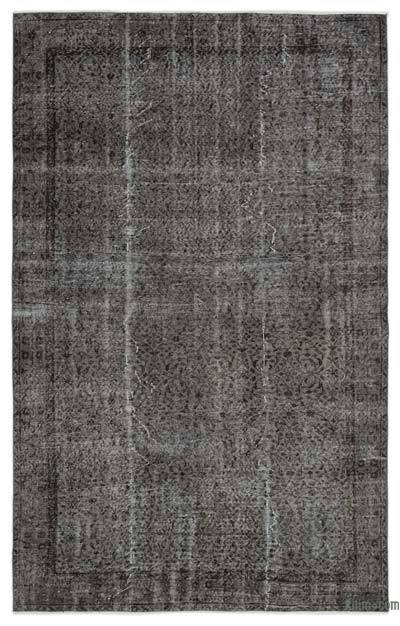 Boyalı El Dokuma Vintage Halı - 183 cm x 287 cm