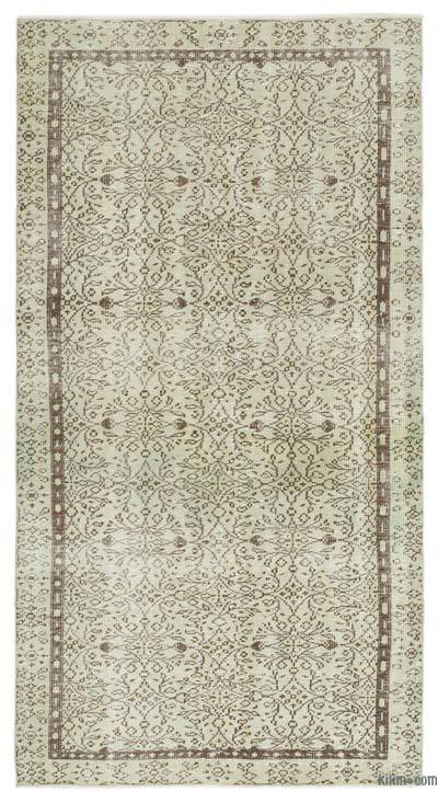 "Over-dyed Turkish Vintage Rug - 4'5"" x 8'4"" (53 in. x 100 in.)"