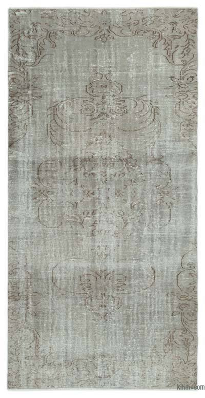 """Over-dyed Turkish Vintage Rug - 4' 2"""" x 8' 2"""" (50 in. x 98 in.)"""