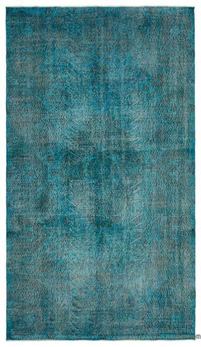 Boyalı El Dokuma Vintage Halı - 172 cm x 301 cm