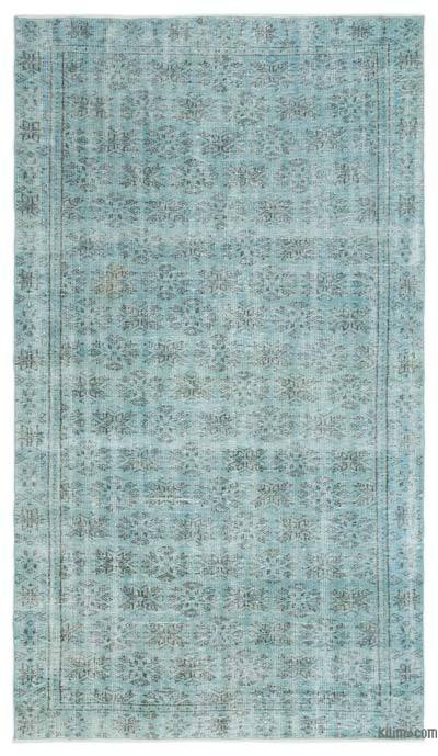 "Over-dyed Turkish Vintage Rug - 5' 2"" x 8' 11"" (62 in. x 107 in.)"