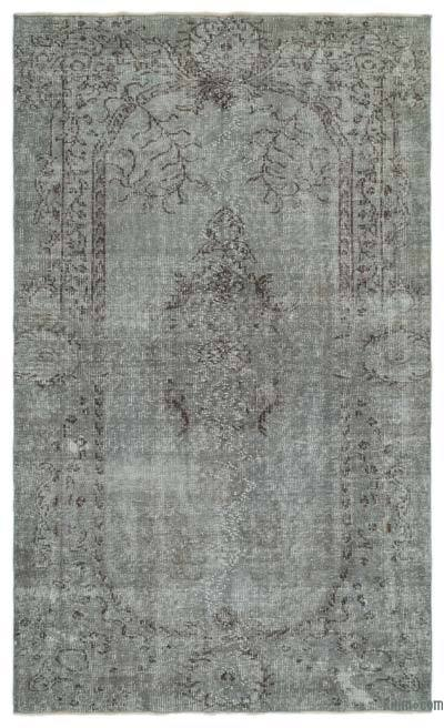 "Over-dyed Turkish Vintage Rug - 5'9"" x 9'7"" (69 in. x 115 in.)"