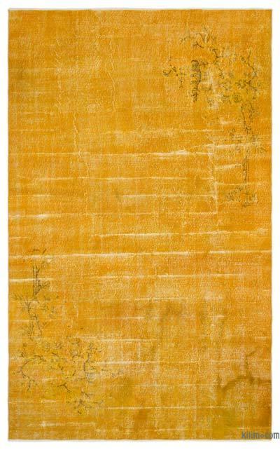 Boyalı El Dokuma Vintage Halı - 195 cm x 317 cm
