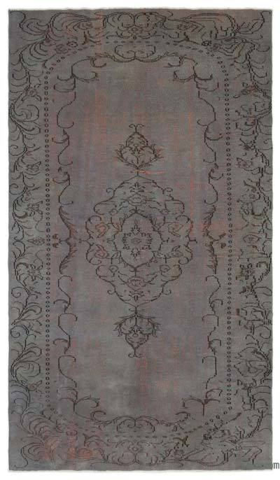 "Over-dyed Turkish Vintage Rug - 5'10"" x 10'1"" (70 in. x 121 in.)"