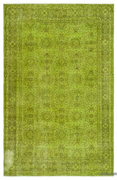 "Over-dyed Turkish Vintage Rug - 6' 7"" x 10' 1"" (79 in. x 121 in.)"
