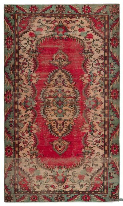 """Turkish Vintage Area Rug - 5'6"""" x 8'10"""" (66 in. x 106 in.)"""