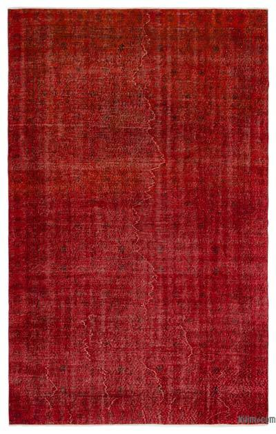 Alfombra Turca Vintage Sobre-teñida - 187 cm x 295 cm