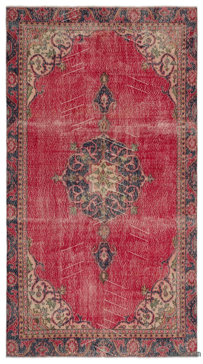 """Vintage Turkish Hand-Knotted Rug - 5' 6"""" x 10'  (66 in. x 120 in.) - K0029341"""