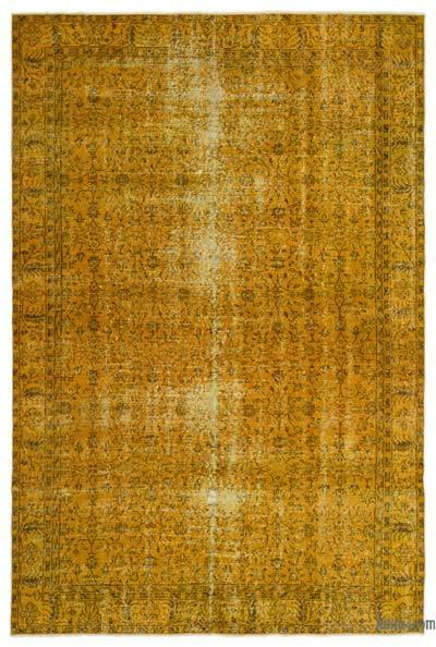 Boyalı El Dokuma Vintage Halı - 207 cm x 303 cm