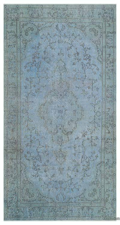 "Over-dyed Turkish Vintage Rug - 4'10"" x 9'4"" (58 in. x 112 in.)"