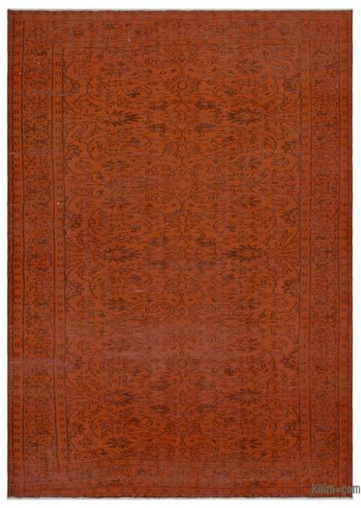"""Over-dyed Turkish Vintage Rug - 6'1"""" x 8'6"""" (73 in. x 102 in.)"""