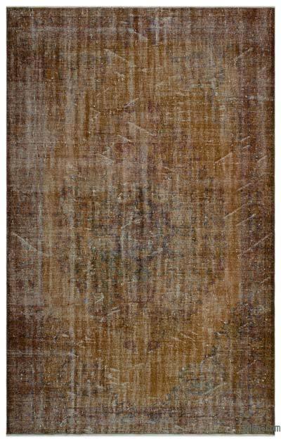Boyalı El Dokuma Vintage Halı - 183 cm x 288 cm