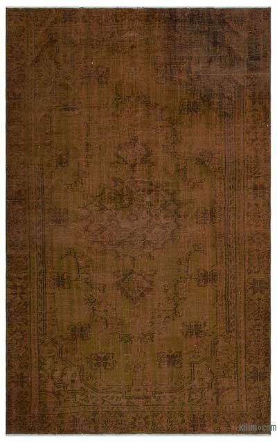 "Over-dyed Turkish Vintage Rug - 5'7"" x 8'8"" (67 in. x 104 in.)"