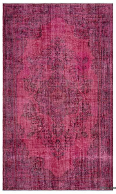 """Over-dyed Turkish Vintage Rug - 6'5"""" x 10'7"""" (77 in. x 127 in.)"""