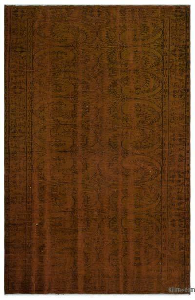 Alfombra Turca Vintage Sobre-teñida - 181 cm x 283 cm