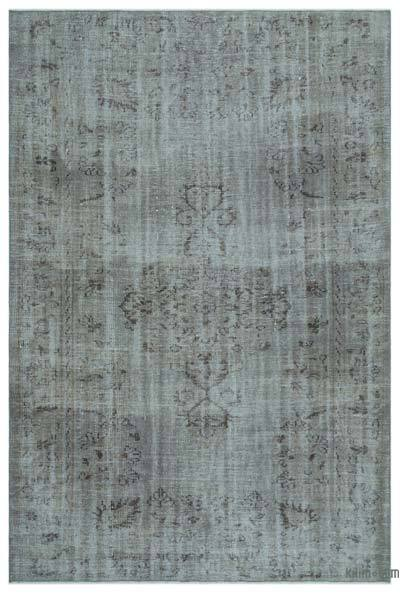 """Over-dyed Turkish Vintage Rug - 6' x 9'1"""" (72 in. x 109 in.)"""