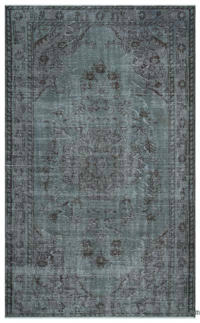 """Over-dyed Turkish Vintage Rug - 5' 4"""" x 8' 8"""" (64 in. x 104 in.)"""