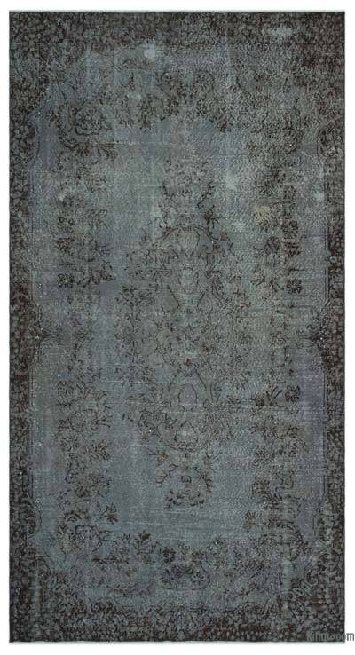 """Over-dyed Turkish Vintage Rug - 5'7"""" x 10'2"""" (67 in. x 122 in.)"""