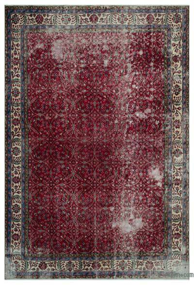 """Turkish Vintage Area Rug - 7' 1"""" x 10' 4"""" (85 in. x 124 in.)"""