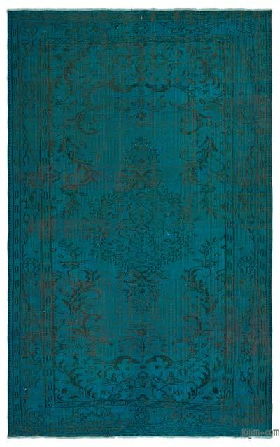 """Over-dyed Turkish Vintage Rug - 5'2"""" x 8'4"""" (62 in. x 100 in.)"""