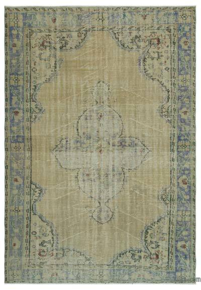 """Over-dyed Turkish Vintage Rug - 6' 4"""" x 9' 2"""" (76 in. x 110 in.)"""