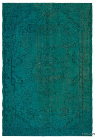 """Over-dyed Turkish Vintage Rug - 5'9"""" x 8'8"""" (69 in. x 104 in.)"""