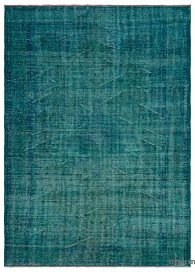 Boyalı El Dokuma Vintage Halı - 190 cm x 258 cm