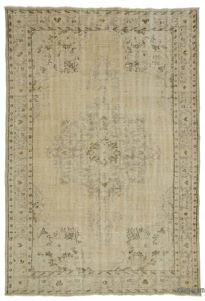 "Over-dyed Turkish Vintage Rug - 6'2"" x 8'10"" (74 in. x 106 in.)"