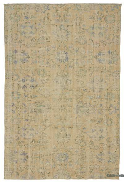 """Over-dyed Turkish Vintage Rug - 6' x 8'10"""" (72 in. x 106 in.)"""