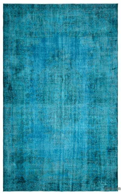 Boyalı El Dokuma Vintage Halı - 208 cm x 335 cm