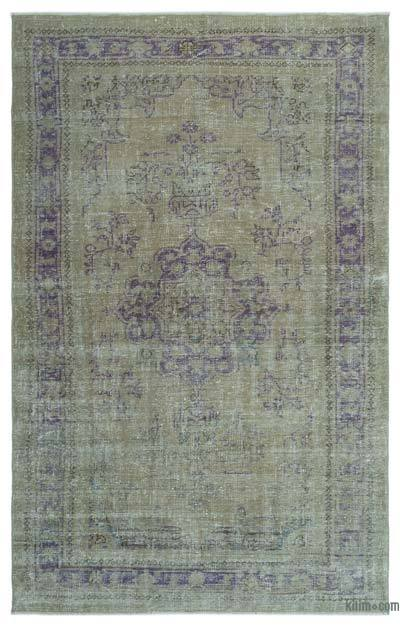 "Over-dyed Turkish Vintage Rug - 5' 3"" x 8' 5"" (63 in. x 101 in.)"