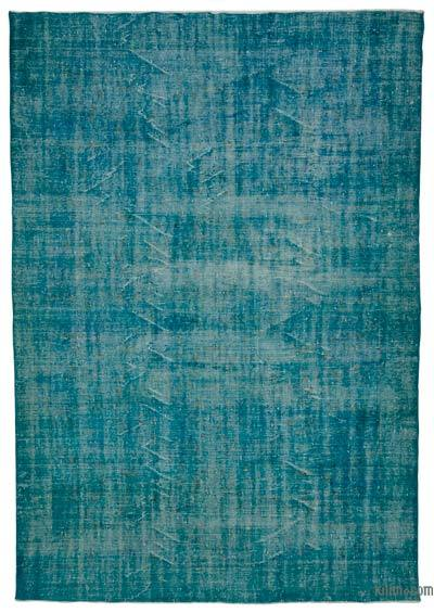 Boyalı El Dokuma Vintage Halı - 218 cm x 310 cm