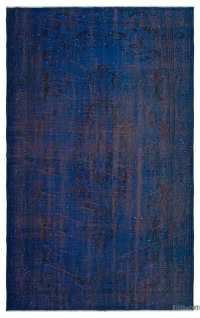 Boyalı El Dokuma Vintage Halı - 166 cm x 272 cm