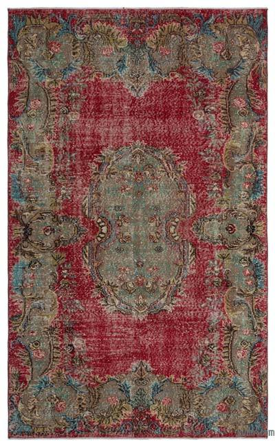 """Turkish Vintage Area Rug - 5' 4"""" x 8' 10"""" (64 in. x 106 in.)"""