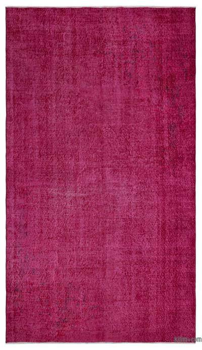 """Over-dyed Turkish Vintage Rug - 5'2"""" x 9'2"""" (62 in. x 110 in.)"""