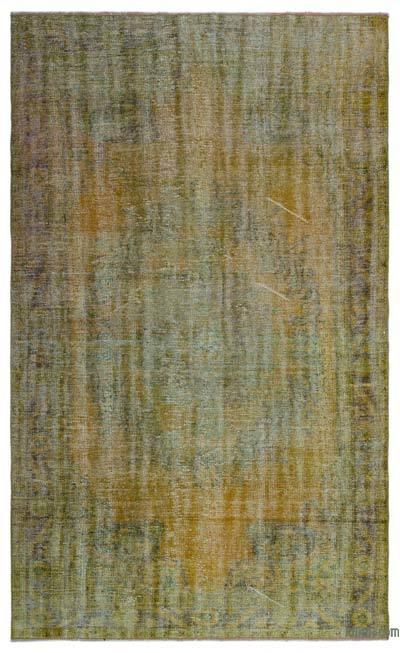 Alfombra Turca Vintage Sobre-teñida - 166 cm x 276 cm