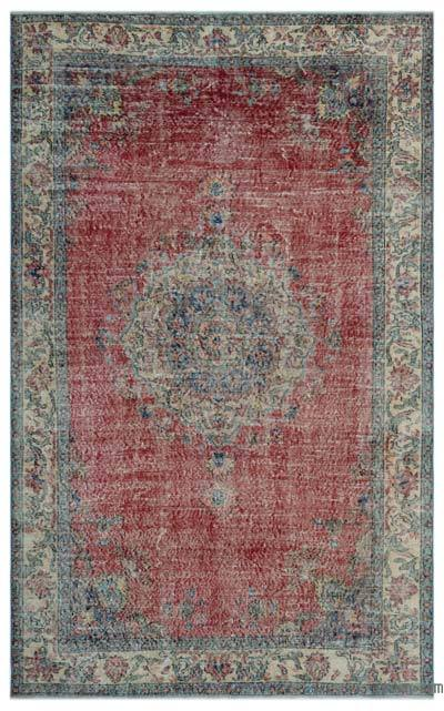 "Turkish Vintage Area Rug - 5' 7"" x 9' 3"" (67 in. x 111 in.)"