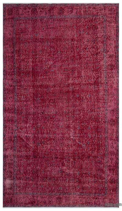 "Over-dyed Turkish Vintage Rug - 5'5"" x 9'5"" (65 in. x 113 in.)"
