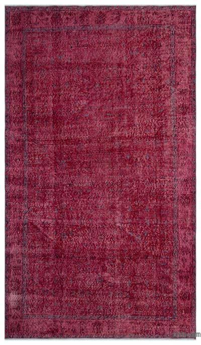 Boyalı El Dokuma Vintage Halı - 165 cm x 288 cm