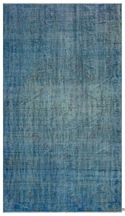 Boyalı El Dokuma Vintage Halı - 161 cm x 280 cm