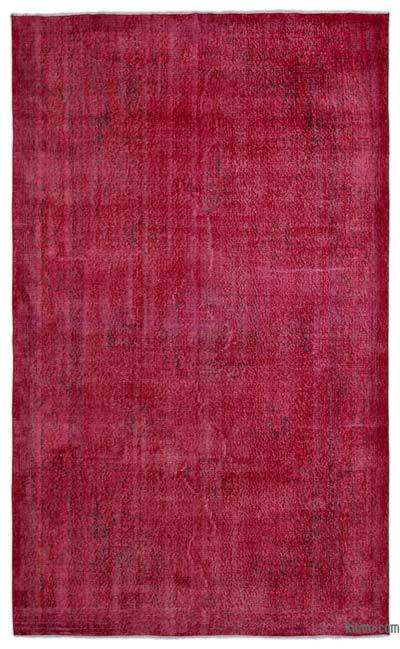 Alfombra Turca Vintage Sobre-teñida - 178 cm x 300 cm
